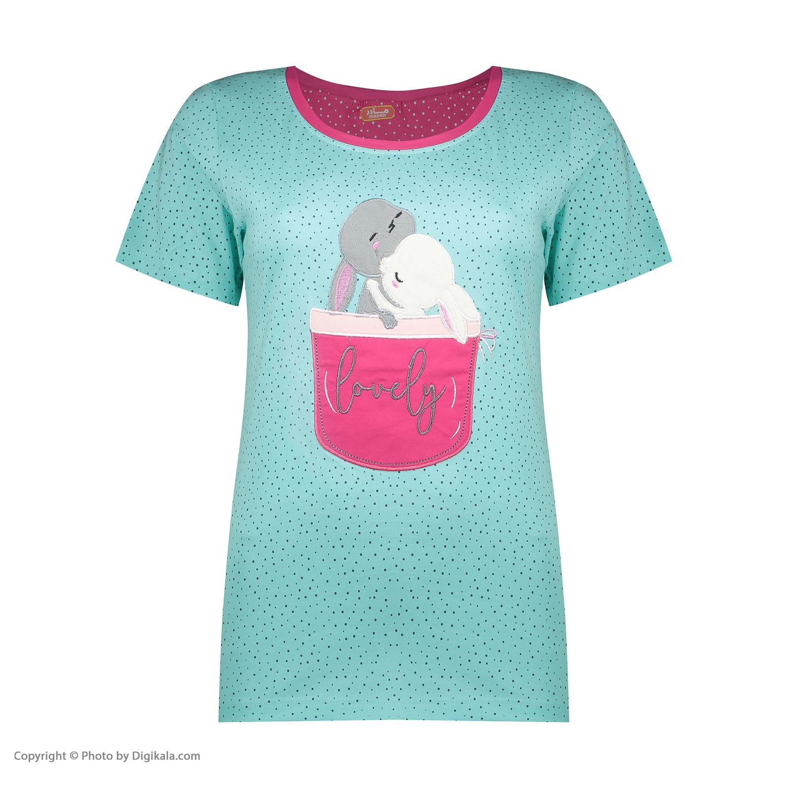 ست تی شرت و شلوارک راحتی زنانه مادر مدل 2041102-54 -  - 4