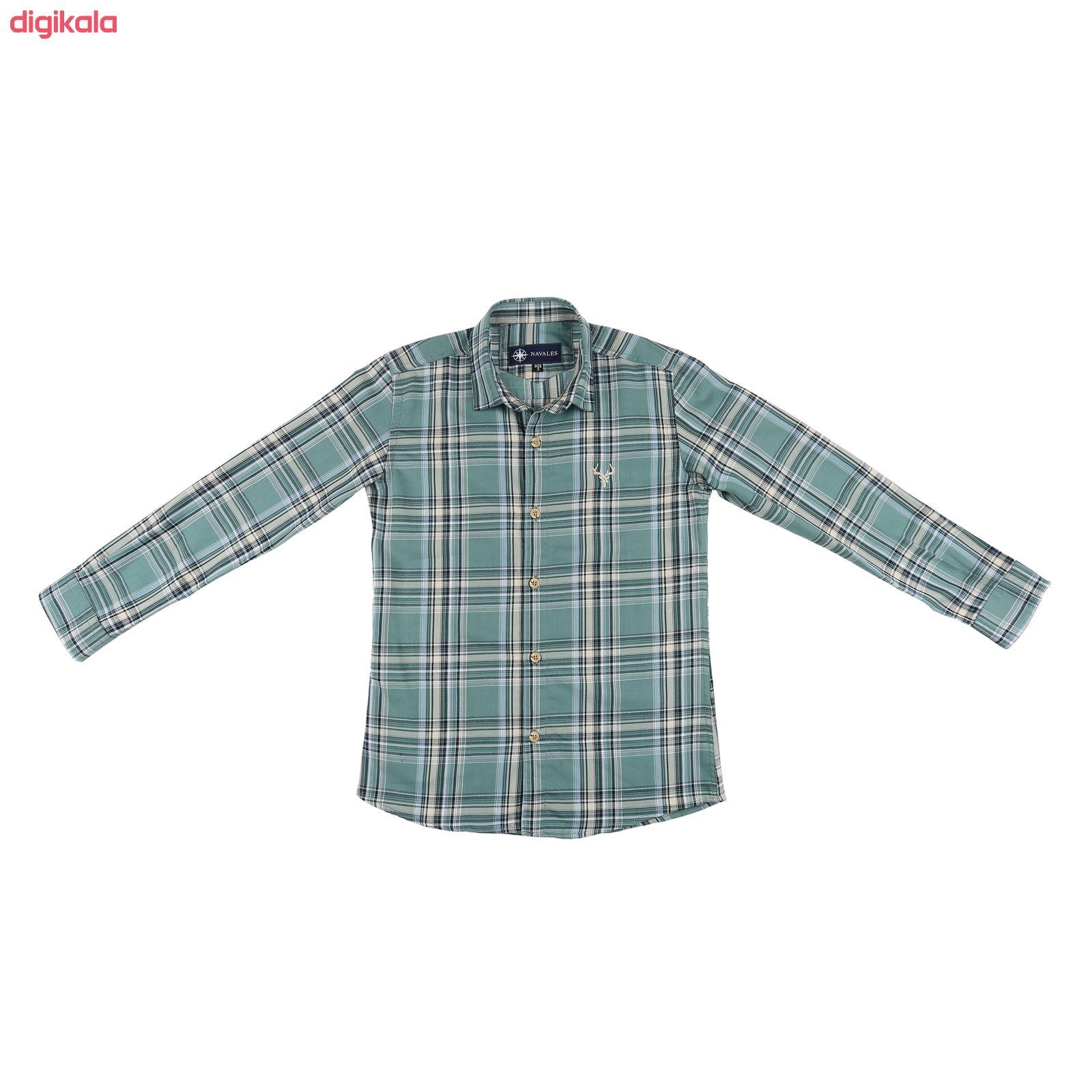پیراهن پسرانه ناوالس کد G-20119-GN main 1 1