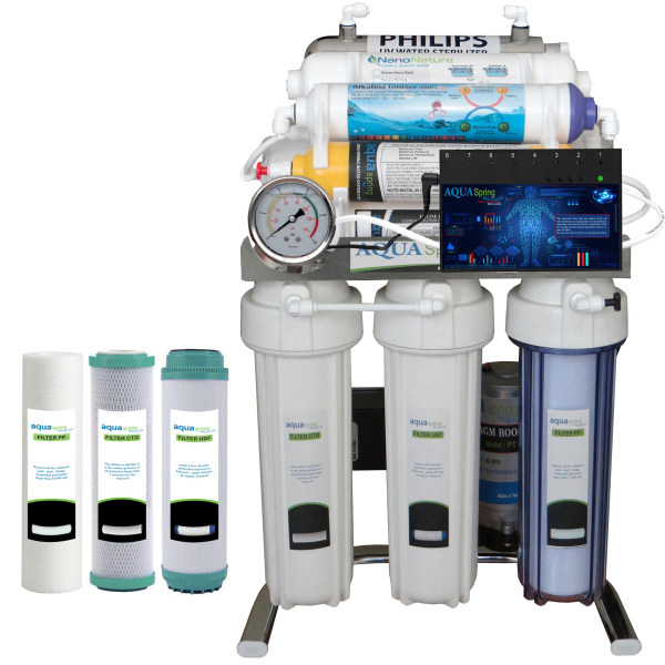 دستگاه تصفیه کننده آب آکوآ اسپرینگ مدل BXN10 به همراه فیلتر مجموعه 3 عددی