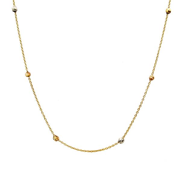 گردنبند طلا 18 عیار زنانه کاپانی کد KN006