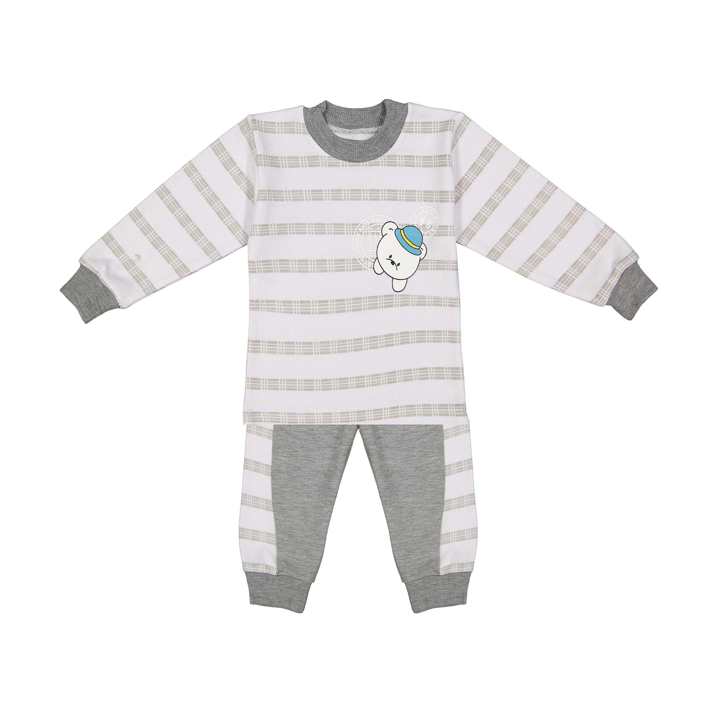 ست تی شرت و شلوار نوزادی پسرانه مدل AZ-03