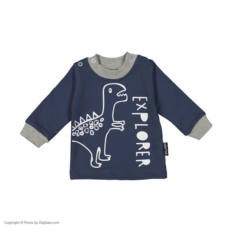 ست تی شرت و شلوارک پسرانه آدمک مدل 2171136-59