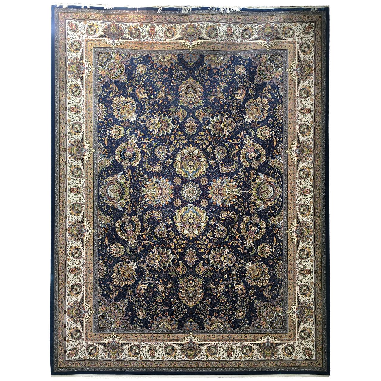 فرش ماشینی عظیم زاده طرح یاشار کد 9057