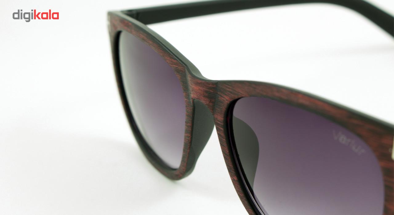 عینک آفتابی واریور مدل Tom Ford Brown Wood