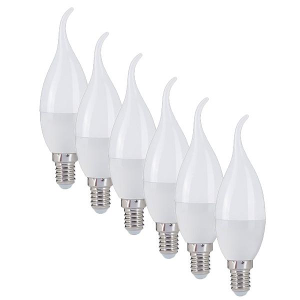 لامپ ال ای دی 6 وات مونلایت پایه E14 بسته 6 عددی