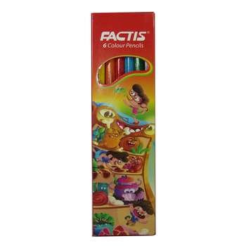 مداد رنگی 6 رنگ فکتیس مدل SMOOTH