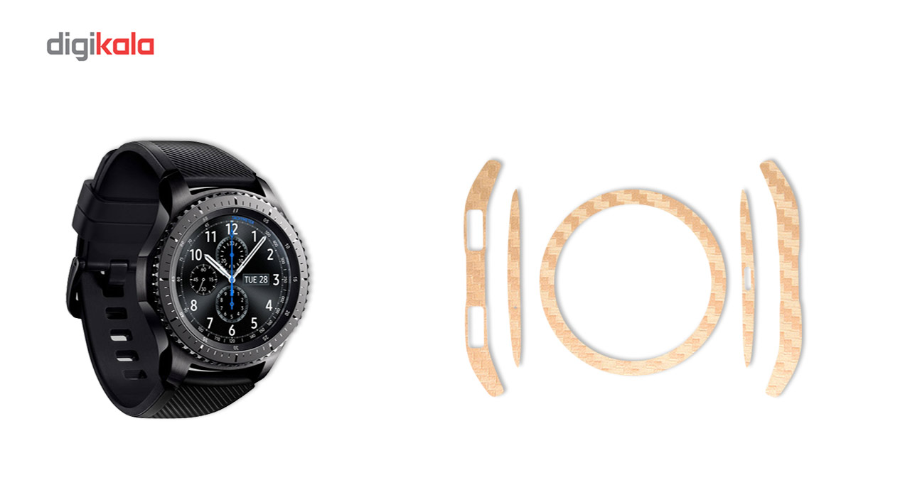 بسته 2 عددی برچسب ماهوت مدل Carbon-fiber مناسب برای ساعت هوشمند Samsung Gear S3 Frontier