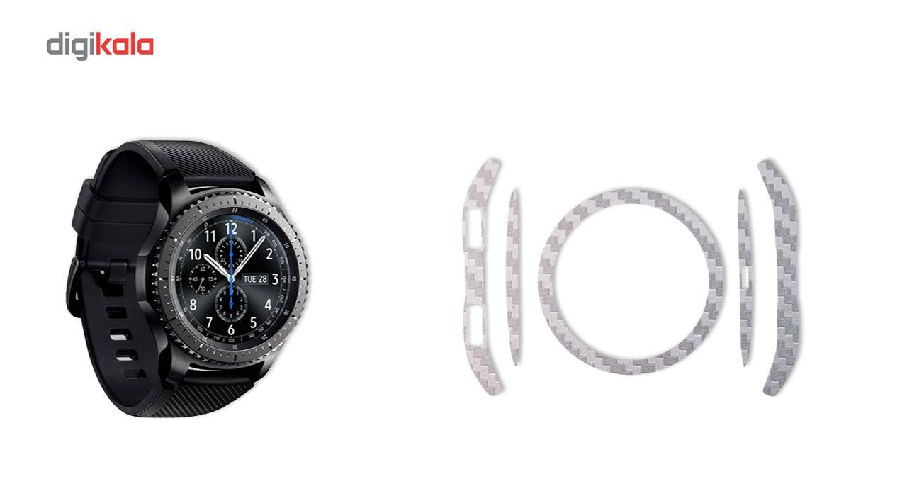 بسته 2 عددی برچسب ماهوت مدل Carbon-fiber مناسب برای ساعت هوشمند Samsung Gear S3 Frontier main 1 3