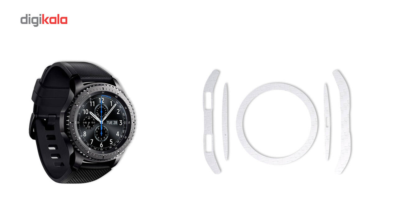 بسته 2 عددی برچسب ماهوت مدل Carbon-fiber مناسب برای ساعت هوشمند Samsung Gear S3 Frontier main 1 4