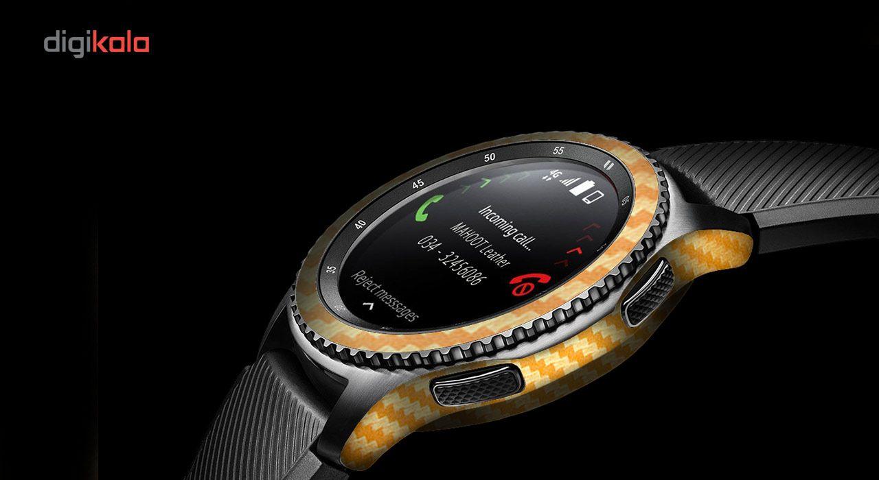 بسته 2 عددی برچسب ماهوت مدل Carbon-fiber مناسب برای ساعت هوشمند Samsung Gear S3 Frontier main 1 6