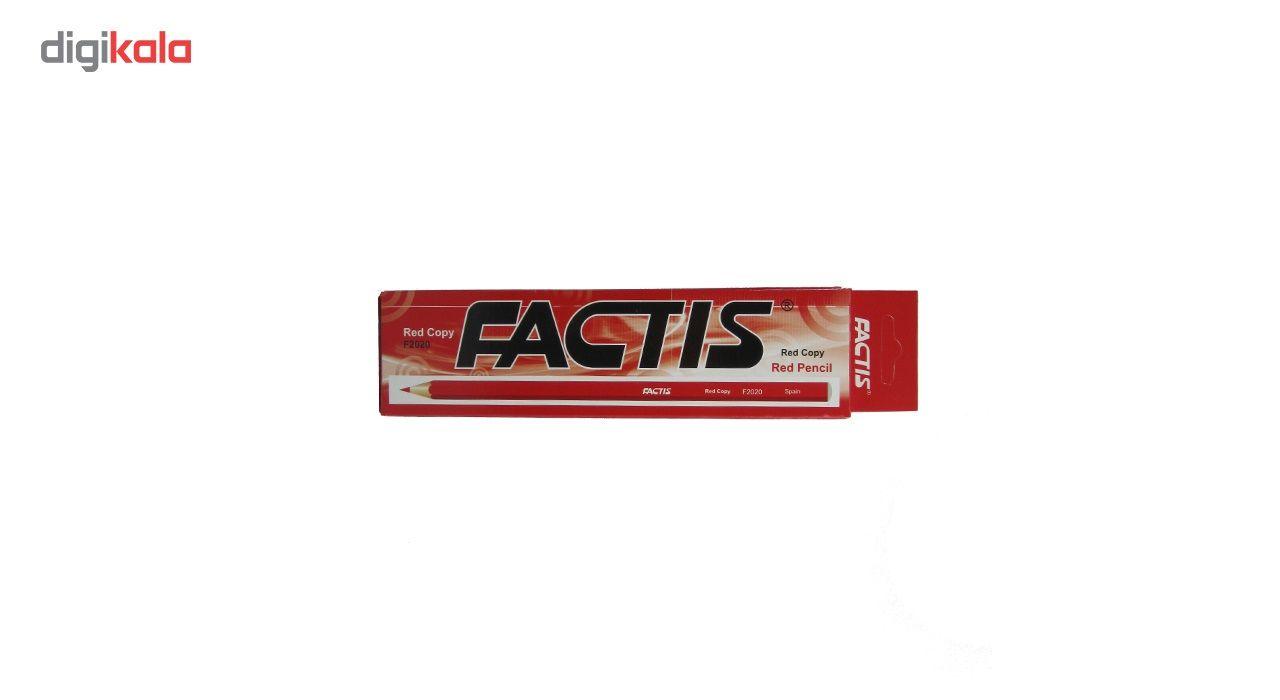 مداد قرمز فکتیس کد F2020 بسته 12 عددی main 1 1