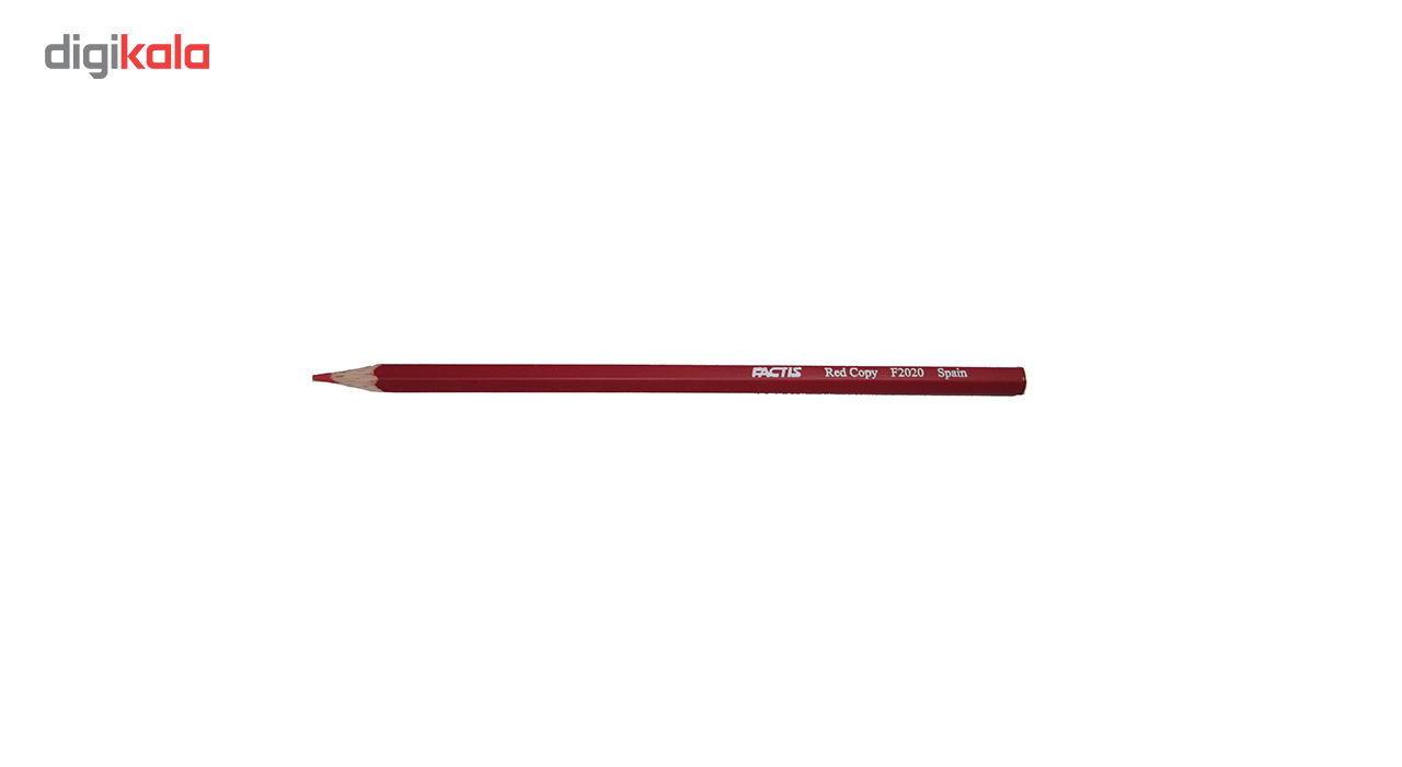 مداد قرمز فکتیس کد F2020 بسته 12 عددی main 1 2