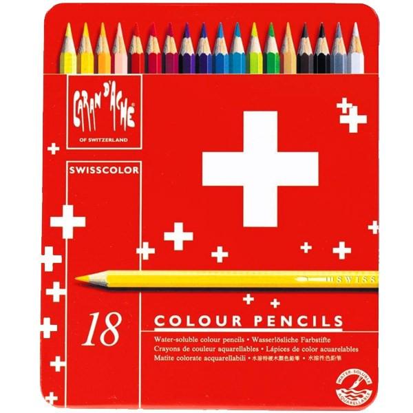 مداد آبرنگی 18 رنگ کارن داش مدل Swiss Color