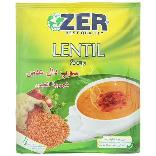 سوپ دال عدس زیر مقدار 60 گرم