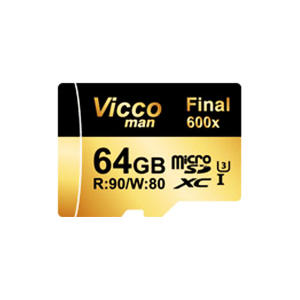 کارت حافظه microSDXC ویکو من مدل Final 600X کلاس 10 استاندارد UHS-I U3 سرعت 90MBps ظرفیت 64گیگابایت همراه با آداپتور SD