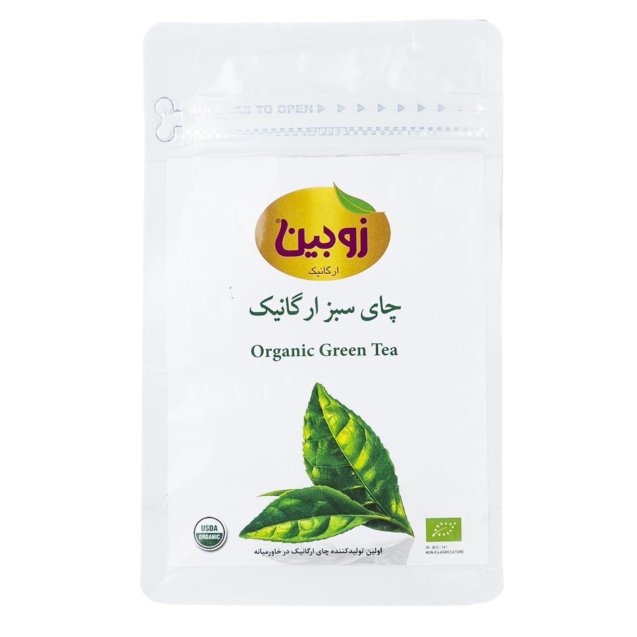 چای سبز زوبین ارگانیک مقدار 100گرم