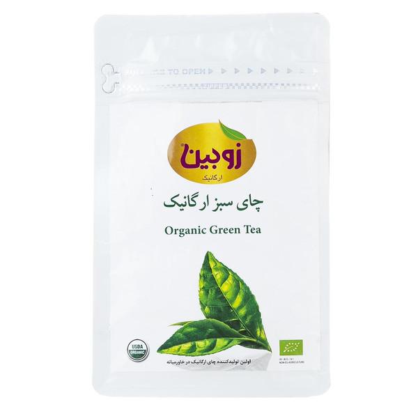 چای سبز ارگانیک زوبین مقدار 100 گرم