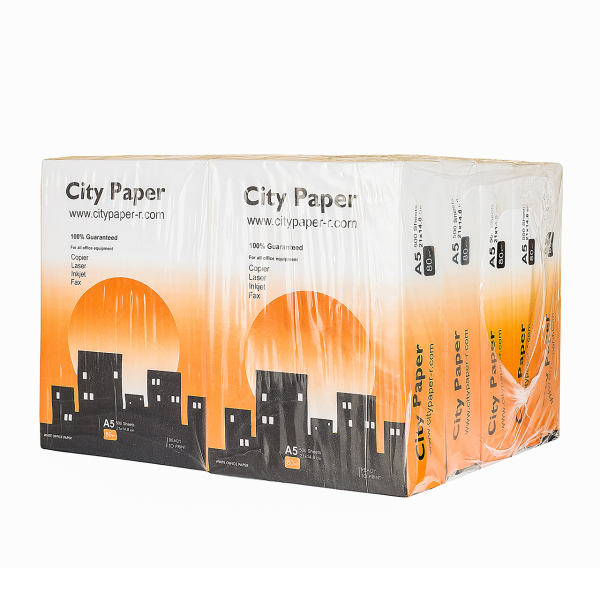 کاغذ A5 سیتی پیپر بسته 5000 عددی 80 گرم