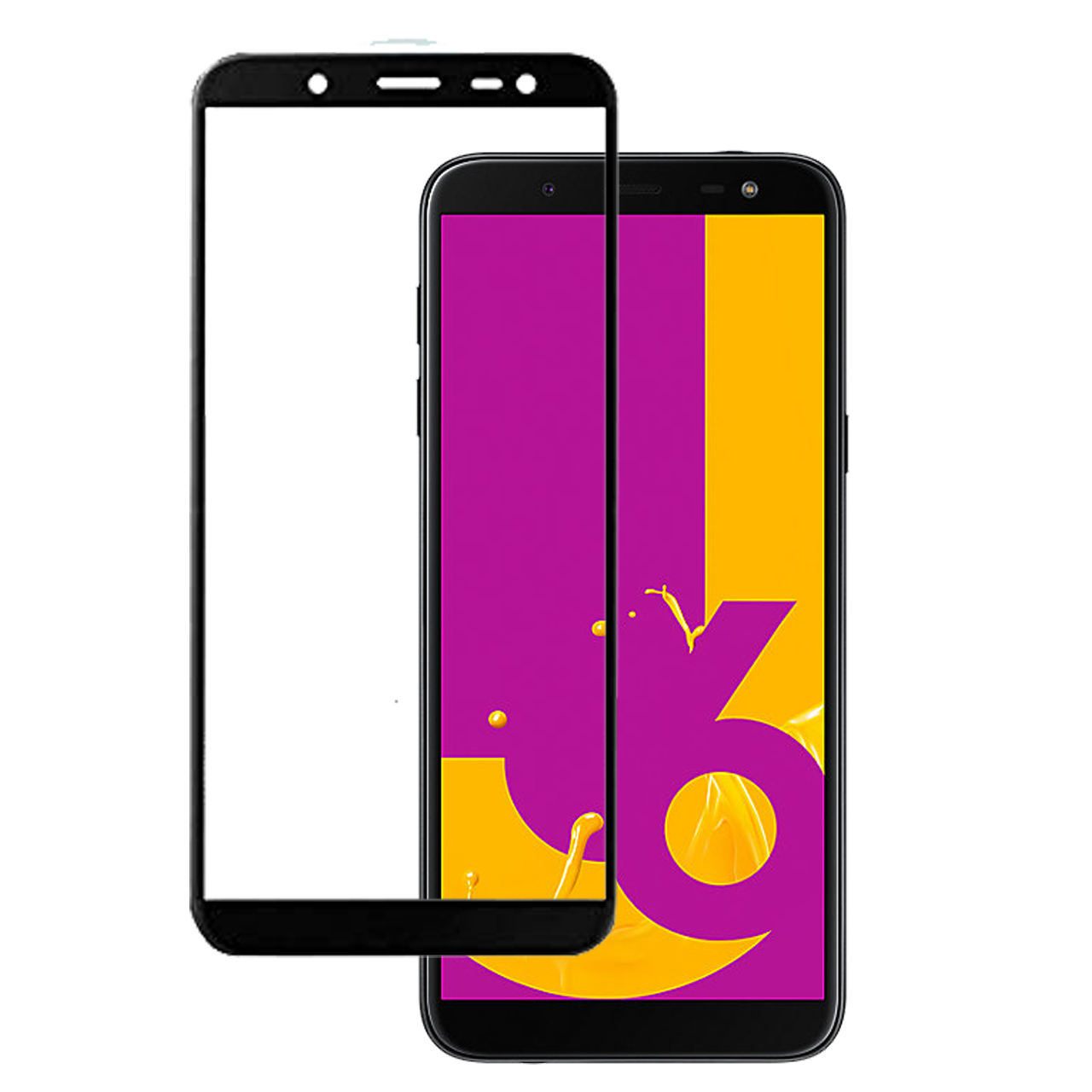 محافظ صفحه نمایش شیشه ای مدل 5D مناسب برای گوشی سامسونگ J6 2018                     غیر اصل