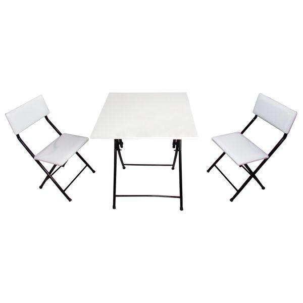 میز و صندلی ناهارخوری 2 نفره میزیمو کد 55030