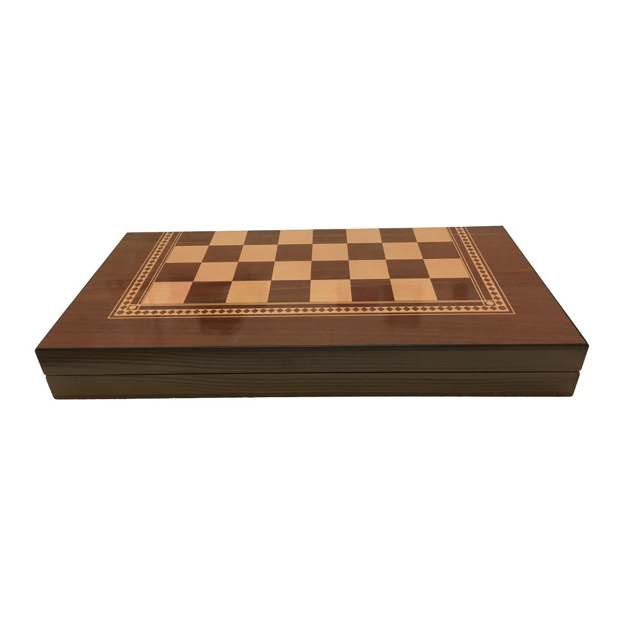 صفحه شطرنج و تخته نرد آرونی طرح کلاسیک طول 50 سانتی متر
