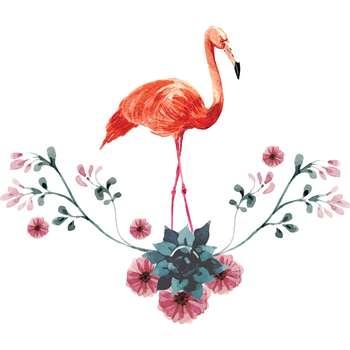 استیکر دیواری سالسو طرح single flamingo m.z