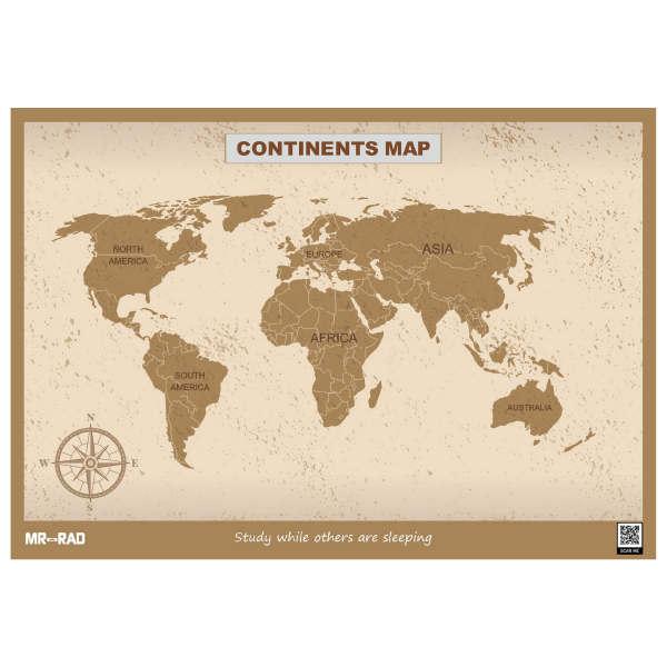 پوستر آموزشی مستر راد طرح نقشه قاره ها مدل M9060