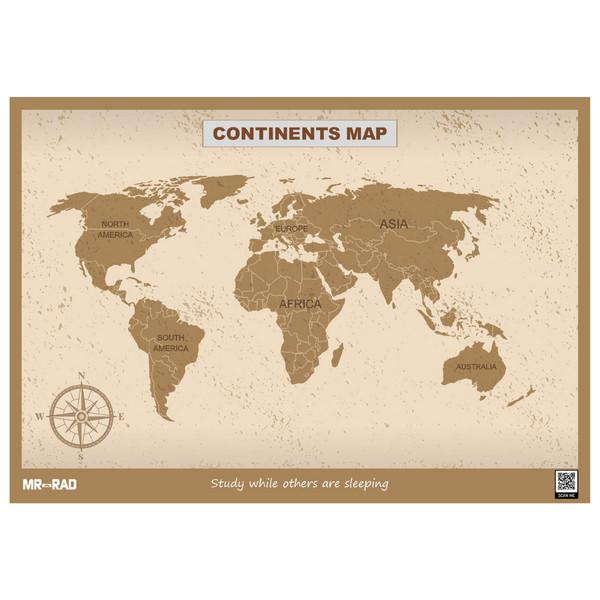 پوستر آموزشی مستر راد طرح قاره ها مدل map10070