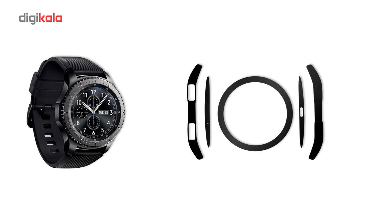 بسته 2 عددی برچسب ماهوت مدل Black-color-shades Special مناسب برای ساعت هوشمند Samsung Gear S3 Frontier main 1 1