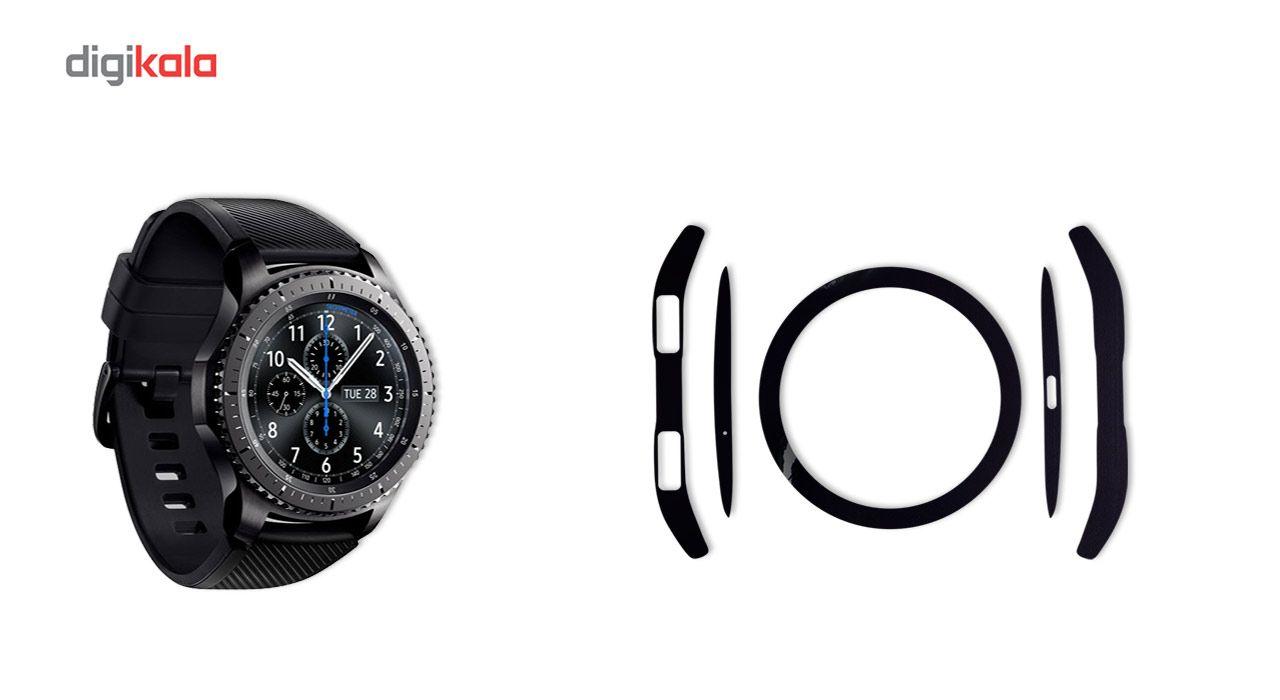 بسته 2 عددی برچسب ماهوت مدل Black-color-shades Special مناسب برای ساعت هوشمند Samsung Gear S3 Frontier main 1 2