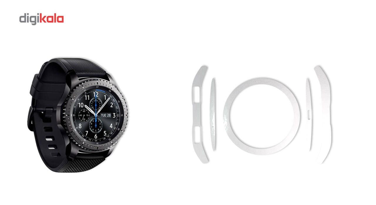 بسته 2 عددی برچسب ماهوت مدل Black-color-shades Special مناسب برای ساعت هوشمند Samsung Gear S3 Frontier main 1 3