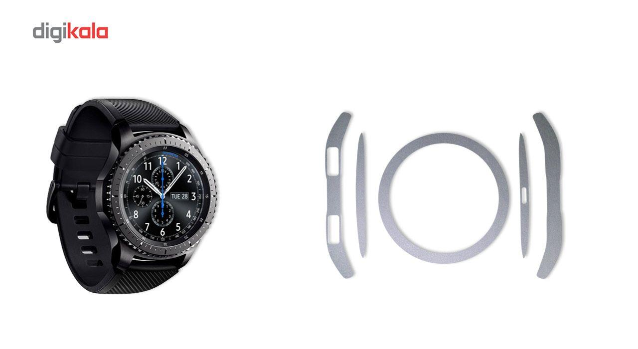 بسته 2 عددی برچسب ماهوت مدل Black-color-shades Special مناسب برای ساعت هوشمند Samsung Gear S3 Frontier main 1 5