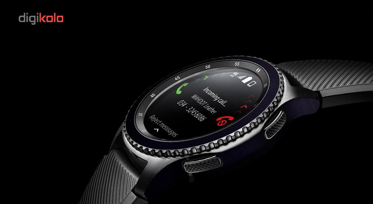 بسته 2 عددی برچسب ماهوت مدل Black-color-shades Special مناسب برای ساعت هوشمند Samsung Gear S3 Frontier main 1 6