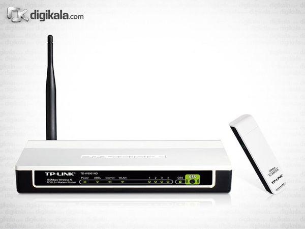 مودم-روتر و کارت شبکه USB تی پی-لینک مدل TD-W150KIT