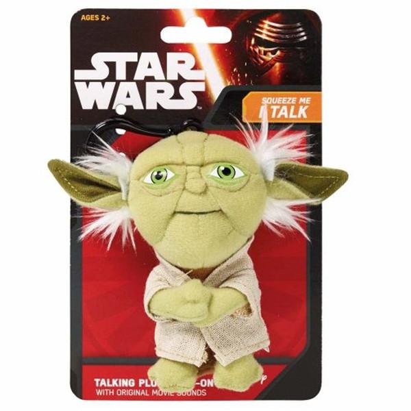 عروسک پولیشی استاروارز کلیپ دار سخن گو مدل Yoda Talking Plush Clip-on