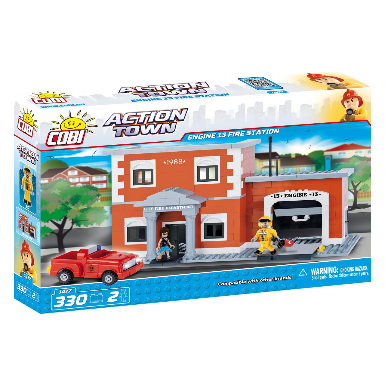 لگو کوبی مدل action town-engine13 fire station