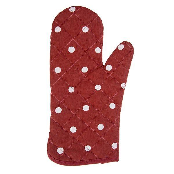 دستکش فر کتان 31 × 14 رزین تاژ طرح خالدار قرمز