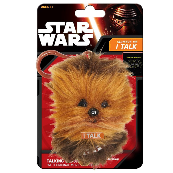 عروسک پولیشی استار وارز کلیپ دار سخنگو مدل Chewie Chewbacca Talking Plush Clip-on