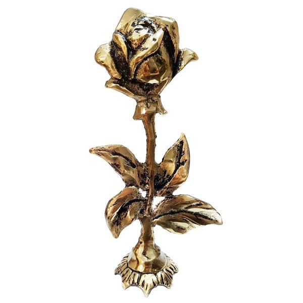 مجسمه برنزي طرح گل رز مدل 1024
