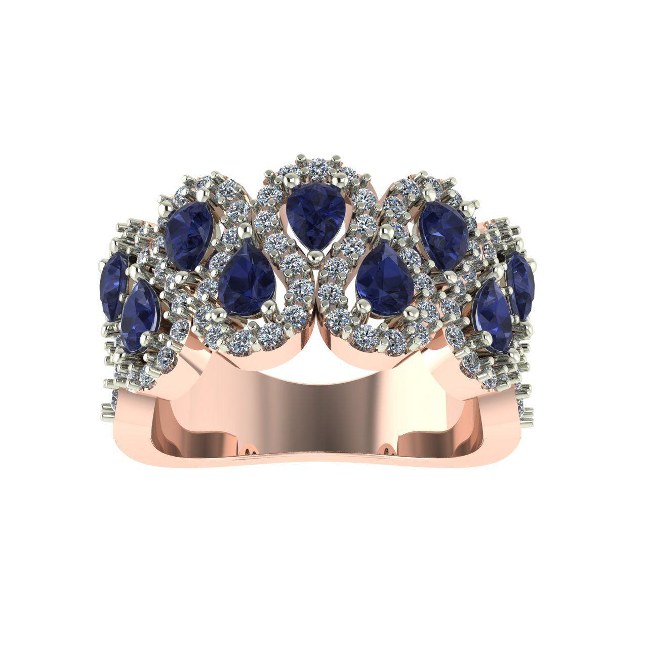 انگشتر طلا 18 عیار اونیکست مدل 2297 Sapphire