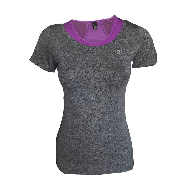 تی شرت ورزشی دخترانه ساکریکس  مدل GTSH555-PUR
