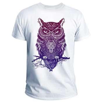 تی شرت انارچاپ طرح جغد مدل T01012