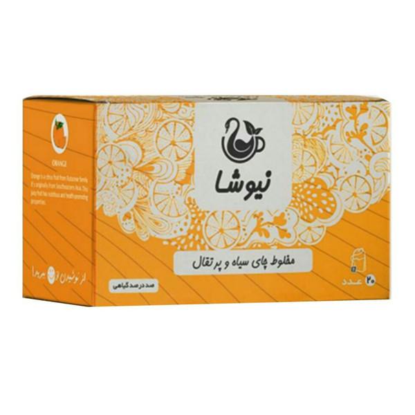 مخلوط چای سیاه و پرتقال نیوشا مدل Orange