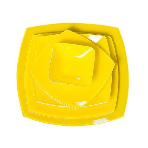 سرویس 25 پارچه غذاخوری شیشه ای آرکوفام مدل 751 کویین زرد