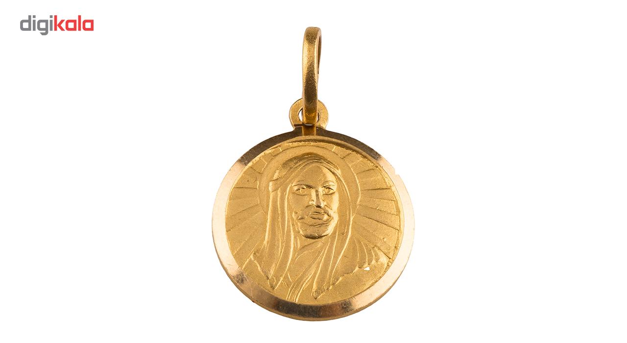 آویز گردنبند طلا 18 عیار  مدل شمایل حضرت علی
