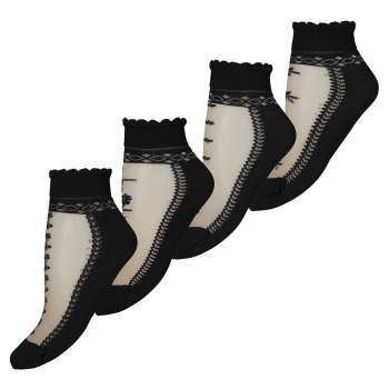 جوراب زنانه بسته 4 عددی
