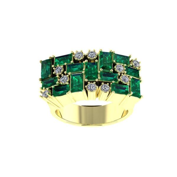 انگشتر طلا اونیکست مدل 2352 Emerald