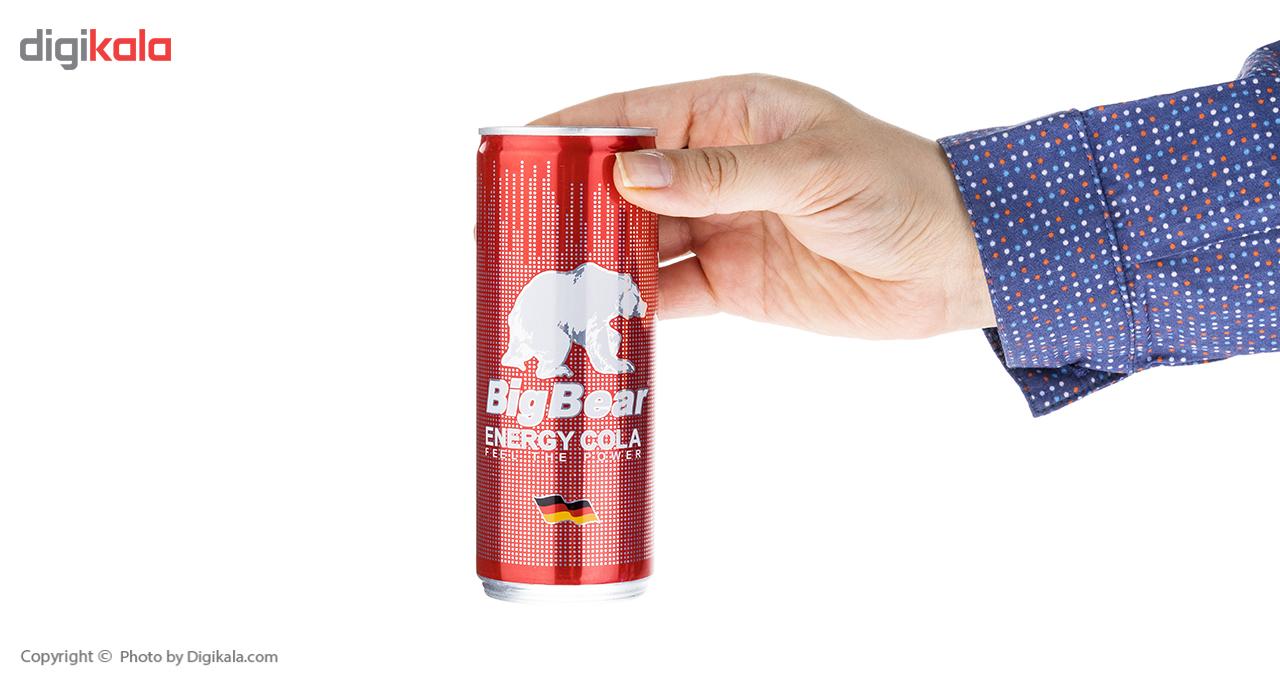 نوشابه انرژی زا کولا بیگ بیر حجم 0.25 لیتر