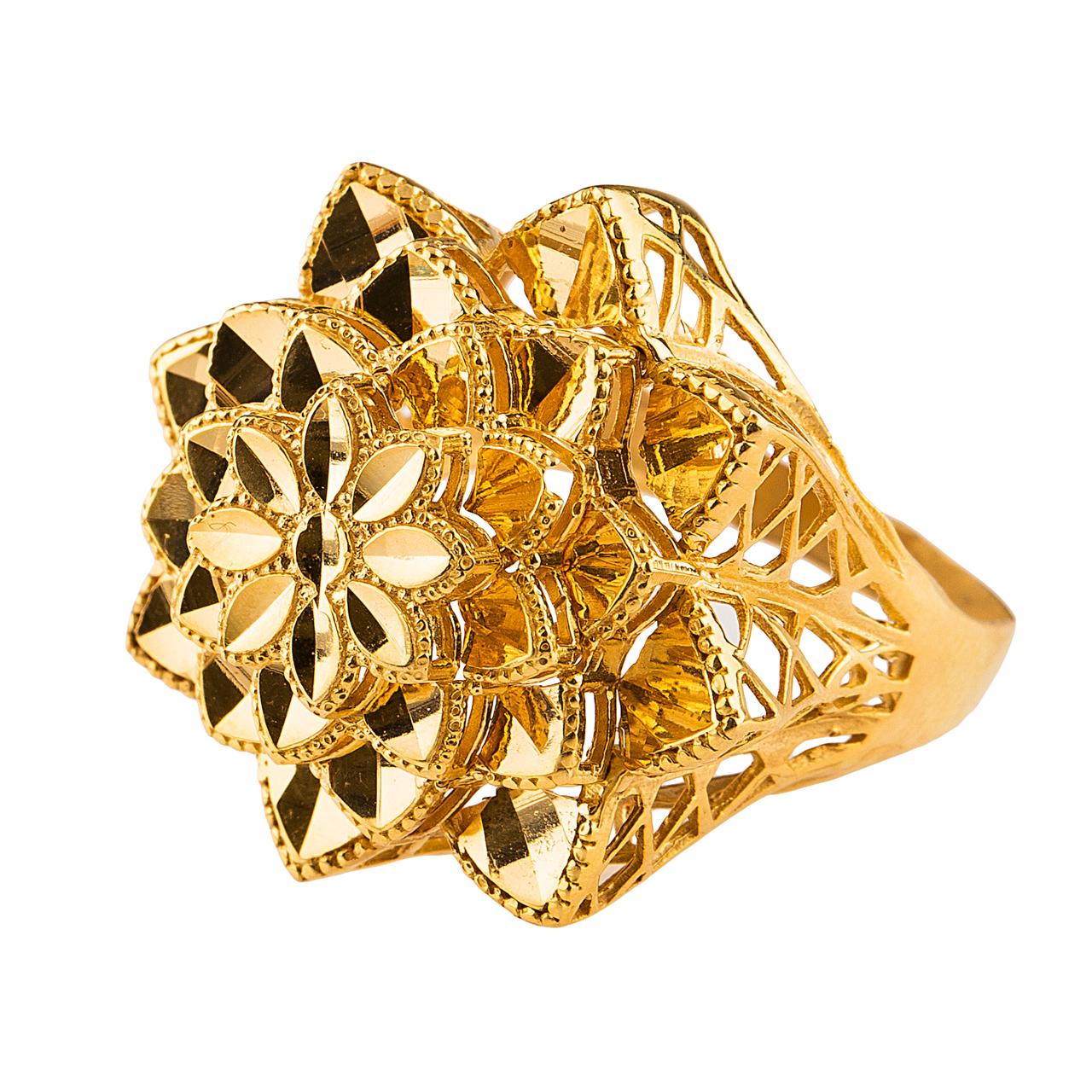 قیمت انگشتر طلا 18 عیار گالری طلا باران چیچک