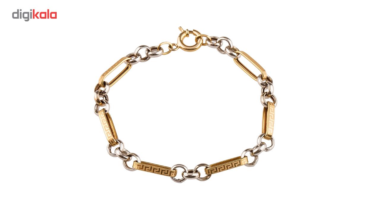 دستبند طلا 18عیار گالری طلا باران مدل 402